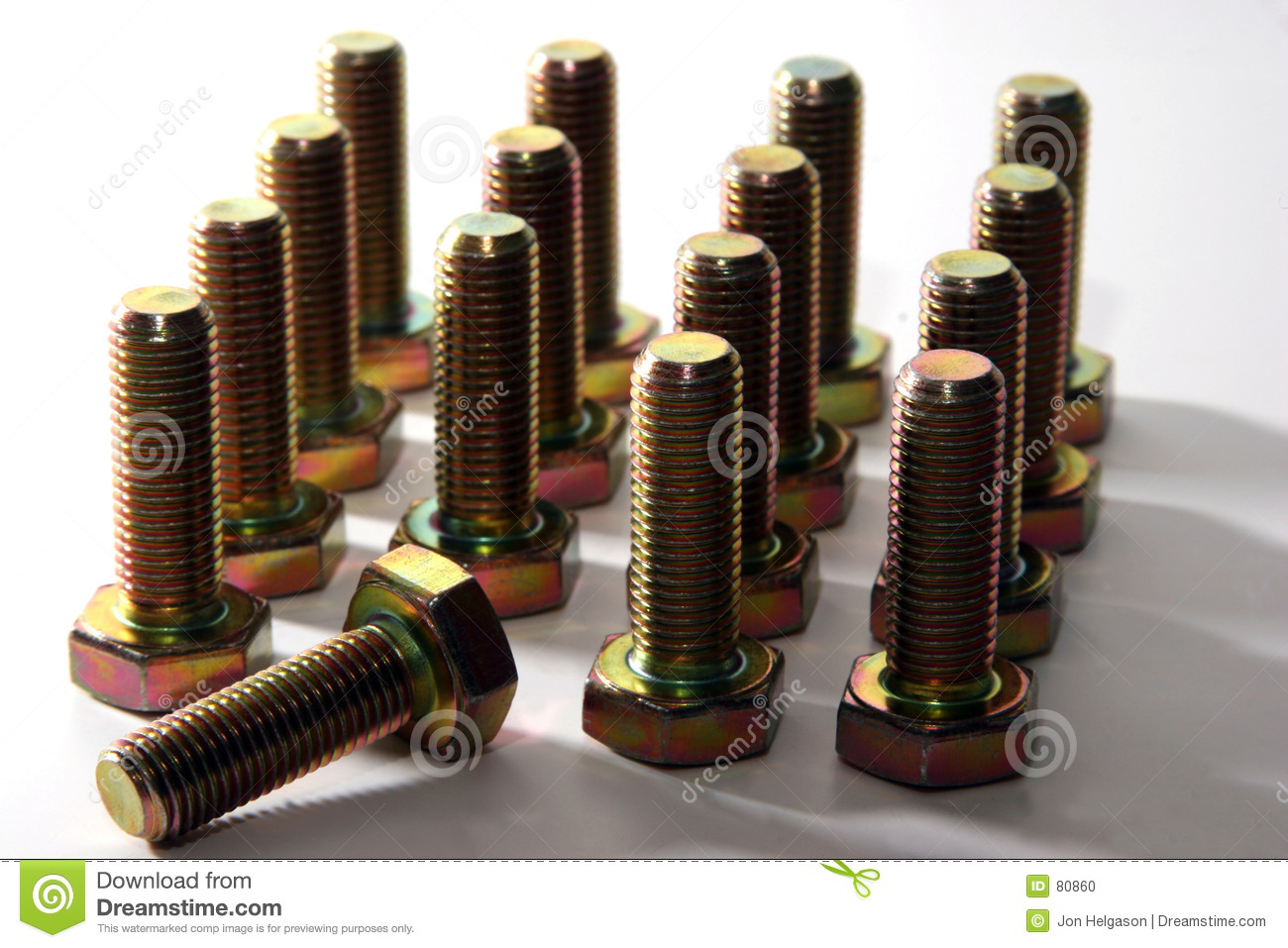 The Army Of Bolts Looses Another Brave Soldier Stock Photo