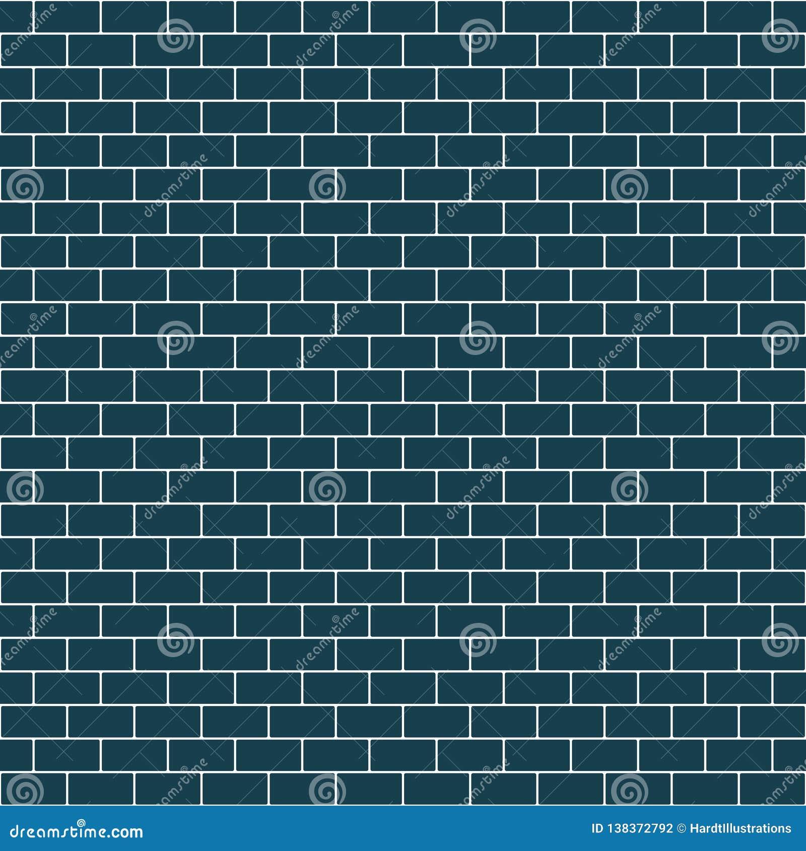 Subway Tile Seamless Pattern Stock Vector Illustration