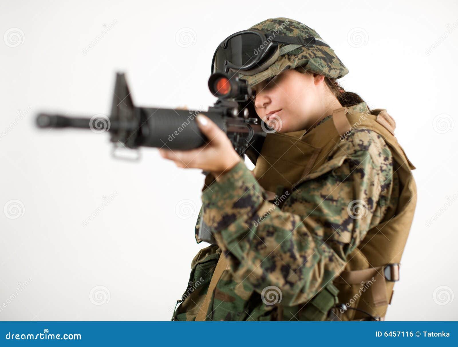 girl in military uniform