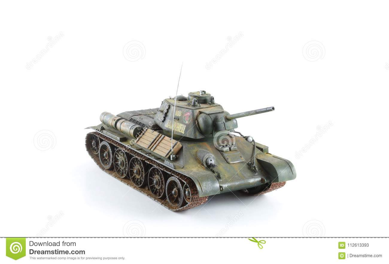 Army Green Military Tank Model Stock Image - Image of armor