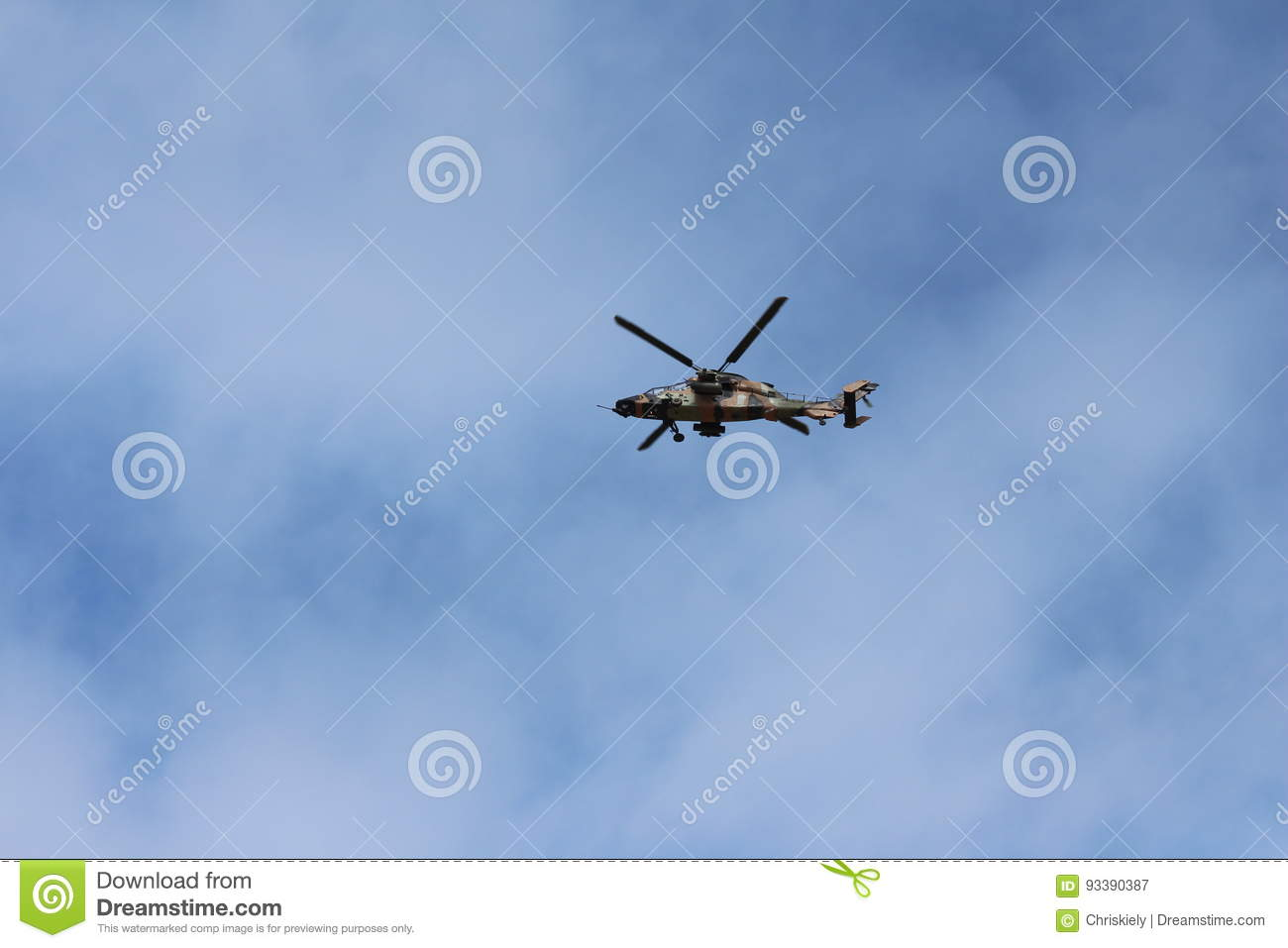 Army Helicopter in Flight