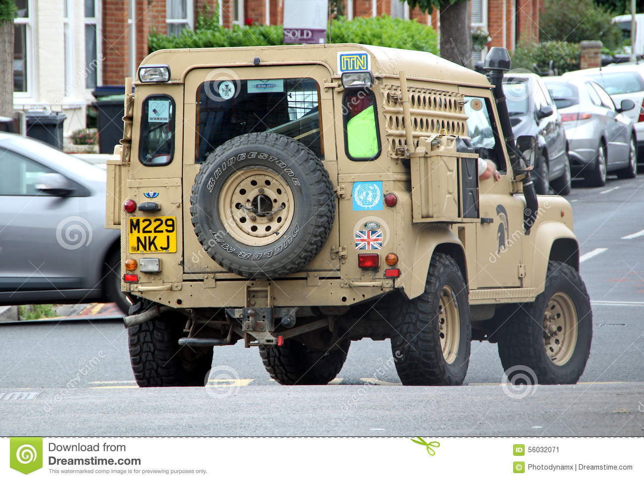 army land rover defender editorial photo image of road. Black Bedroom Furniture Sets. Home Design Ideas