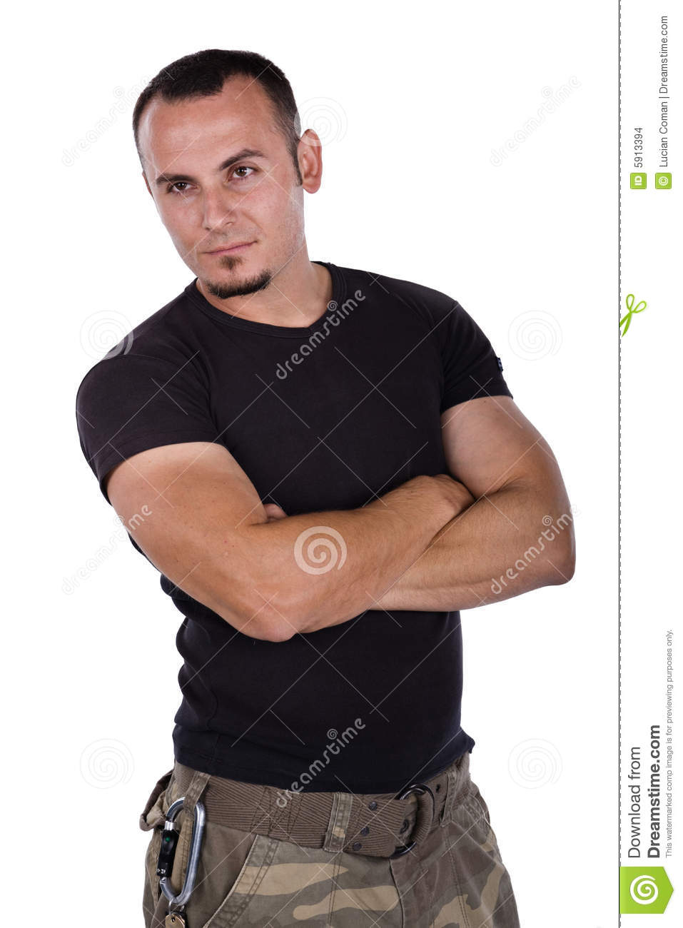 Army Man Stock Photo Image Of Hairstyle Eyes Head Caucasian