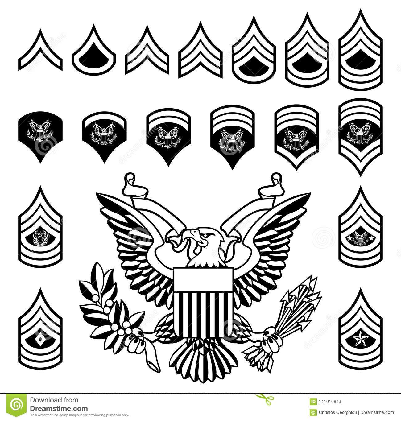 Army military rank insignia stock vector illustration of logo army military rank insignia buycottarizona Image collections