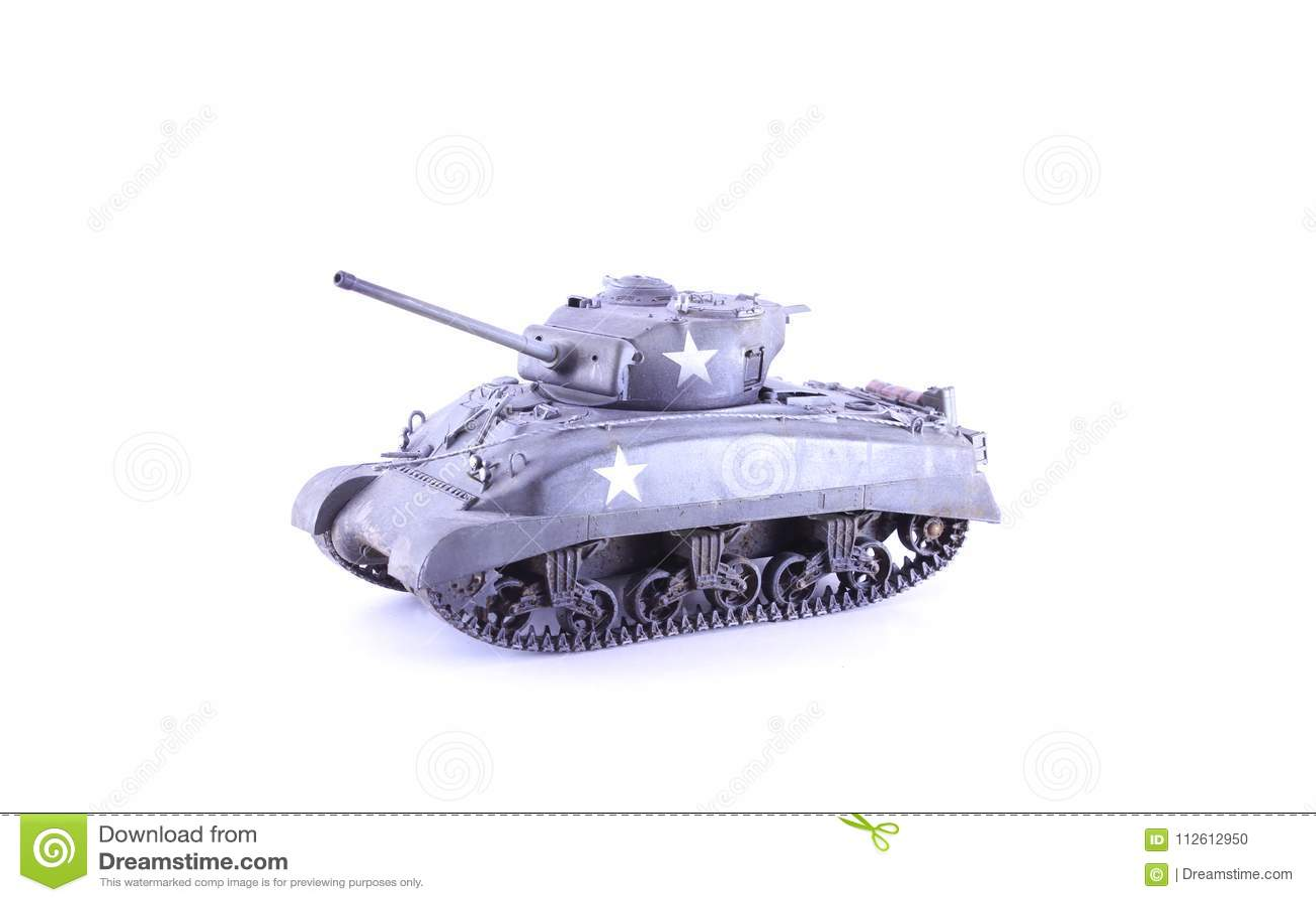 Army Military Tank Model Sherman Stock Photo - Image of