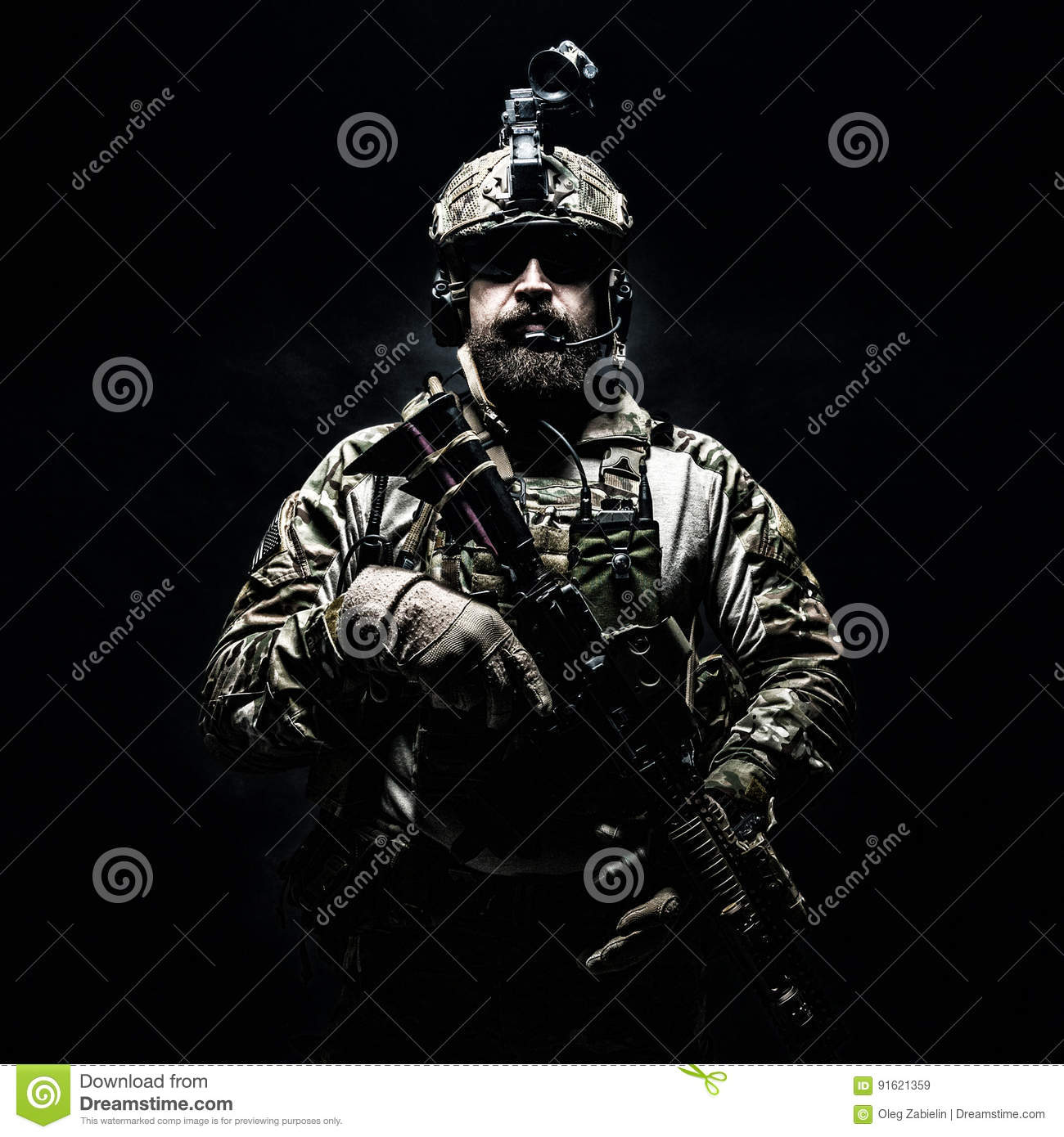 Army Ranger In Field Uniforms Stock Image - Image of clothes
