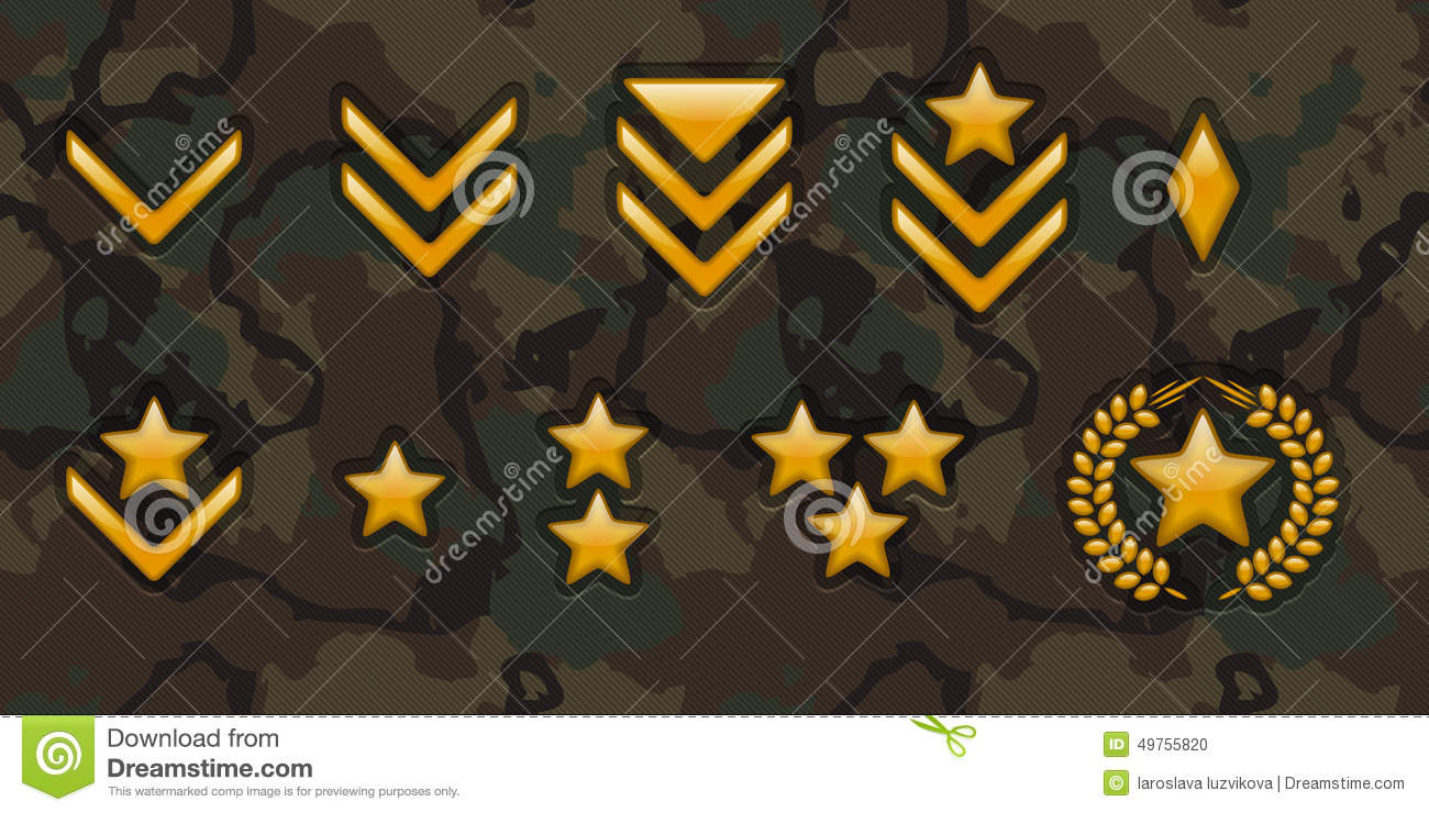 army rank signs stock vector
