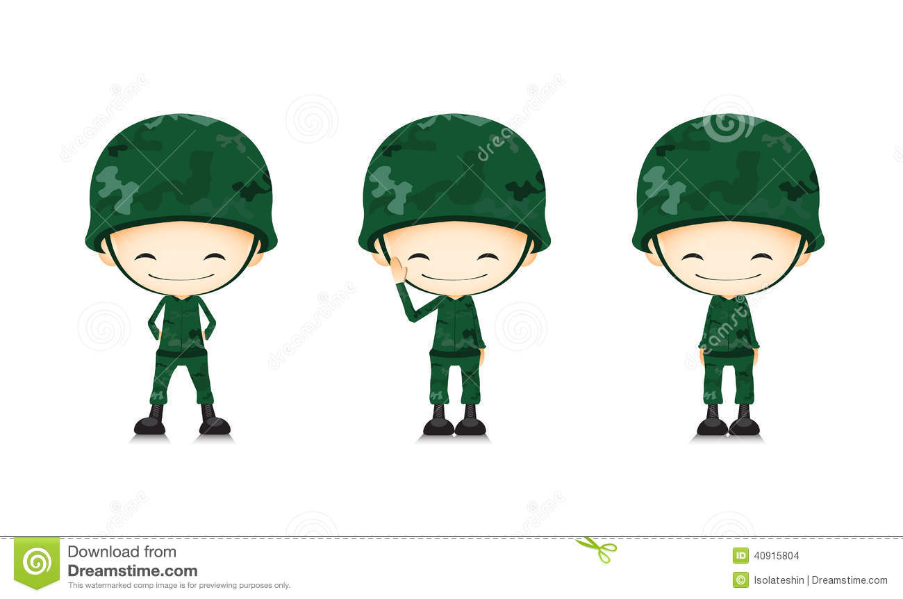 A Army Soldier Cartoon Stock Vector Image 40915804