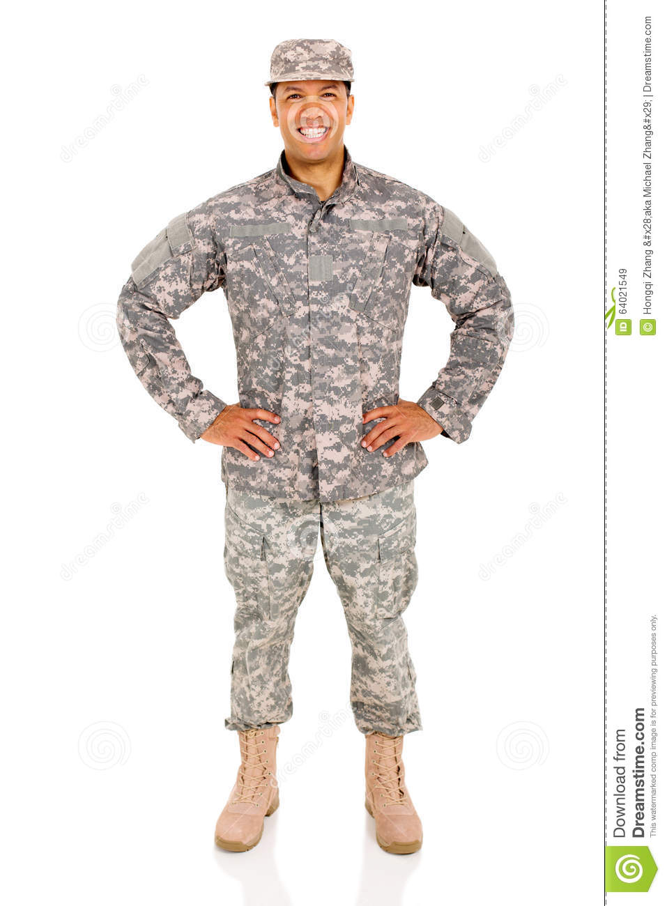 Army soldier posing