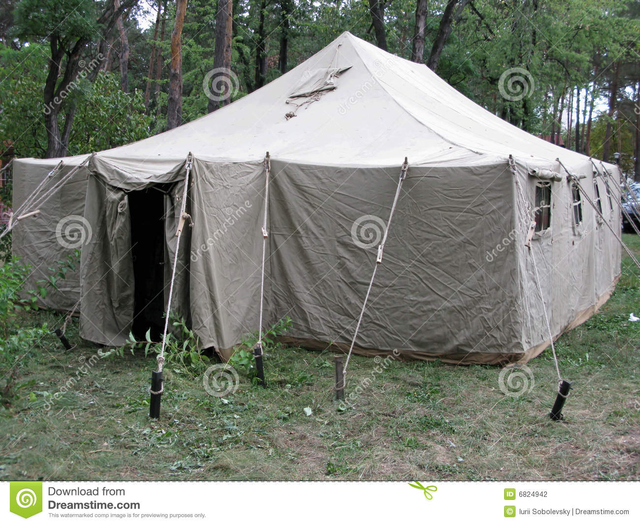 Army Tent In Wood Stock Photography Image 6824942