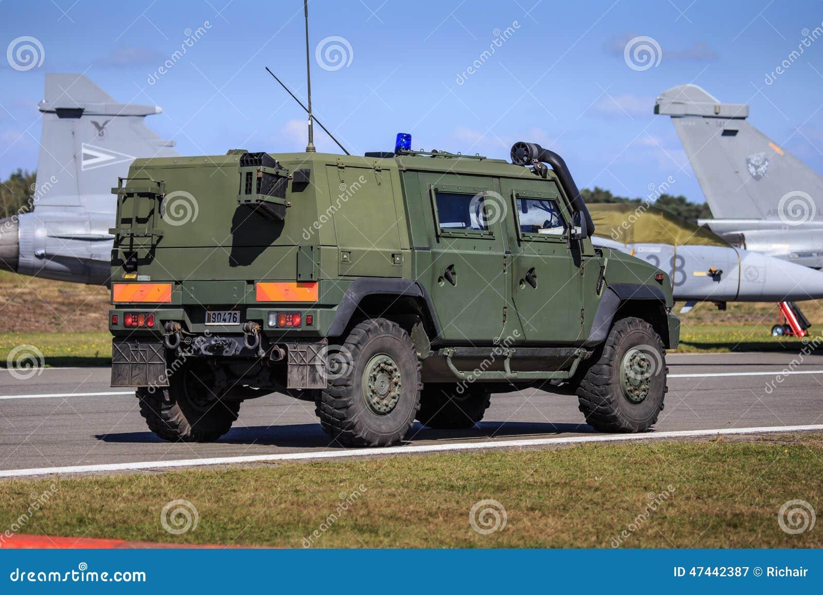 Army vehicle on patrol
