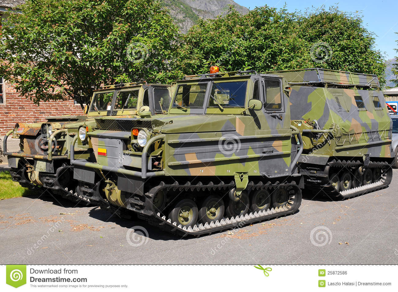 Army Vehicles Stock Photo Image Of Army Camo Machine