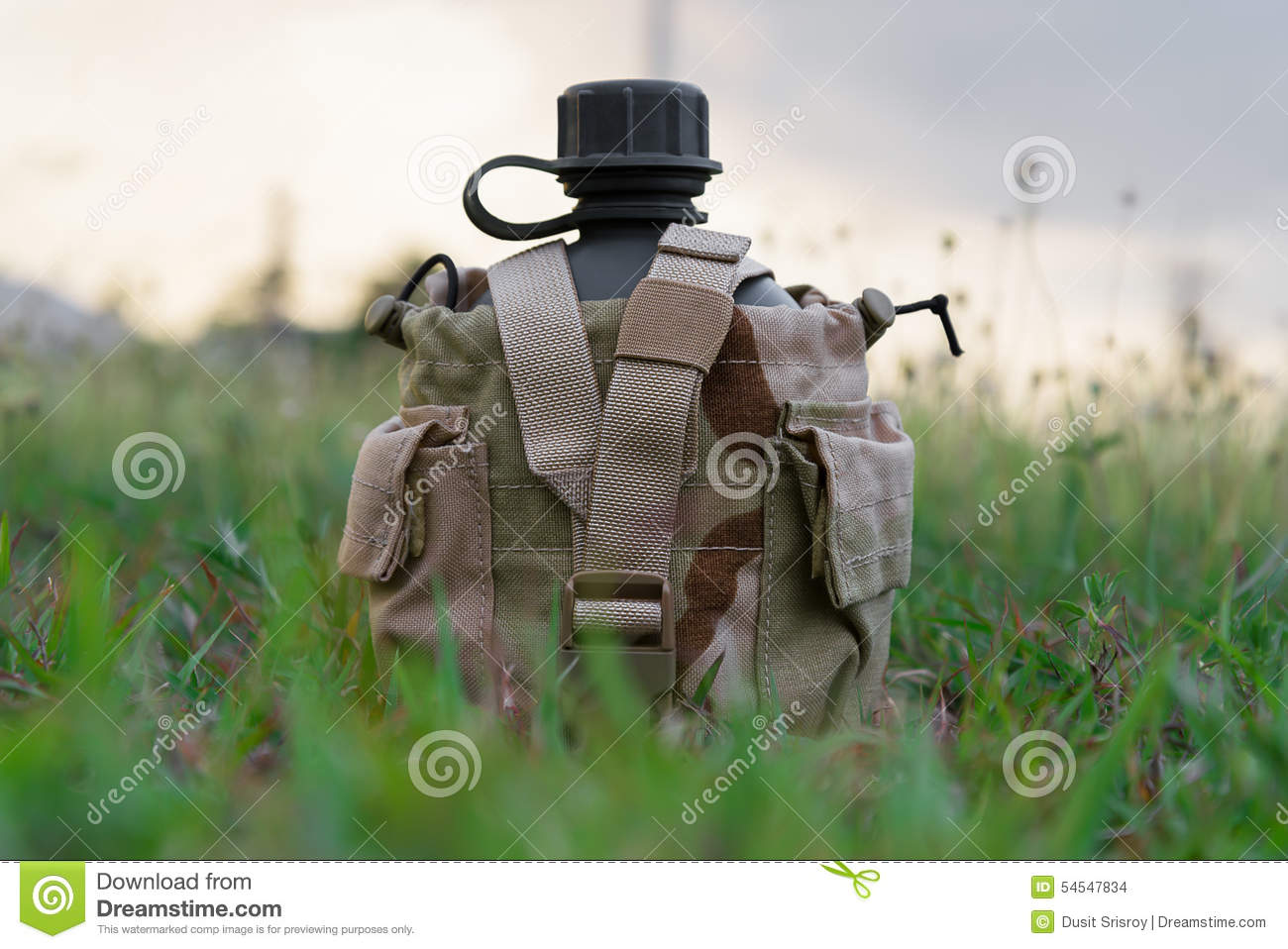 Download Army Water Canteen With Desert Cover Stock Photo - Image of image, army: 54547834