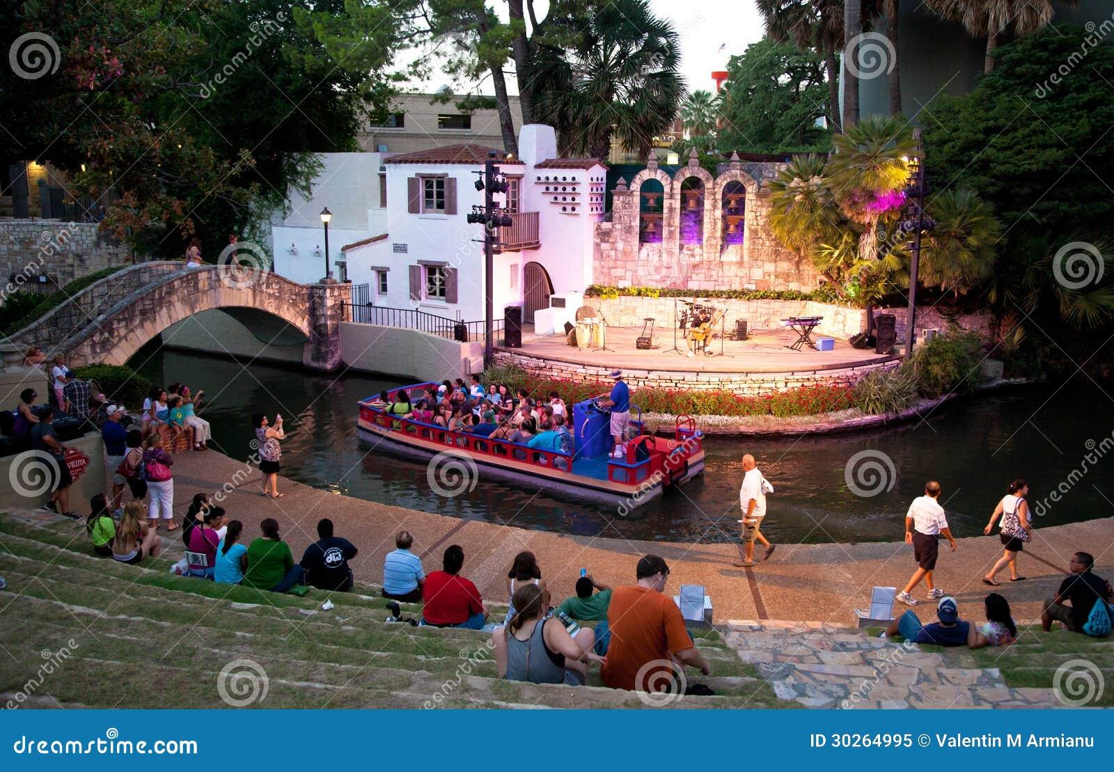 San Antonio Riverwalk Theater Editorial Image Image