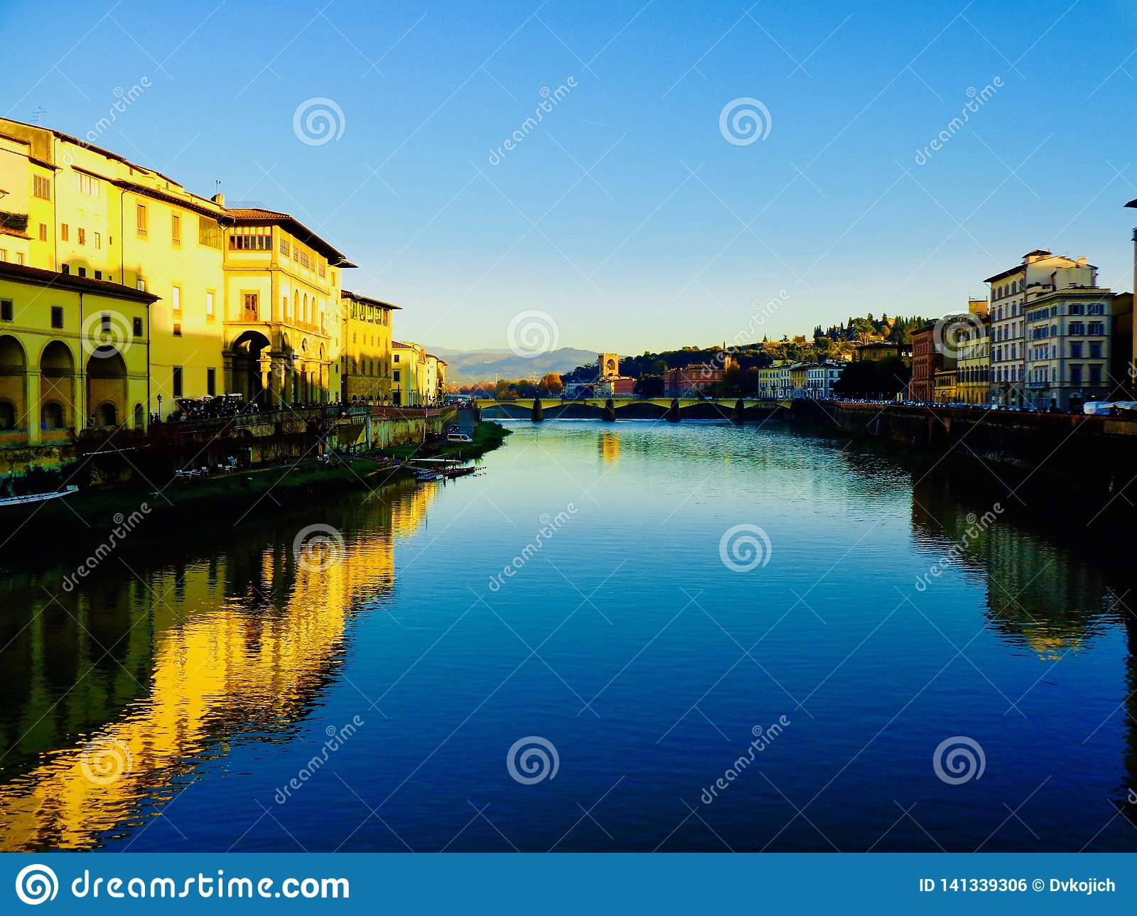 Sunset along the Arno River