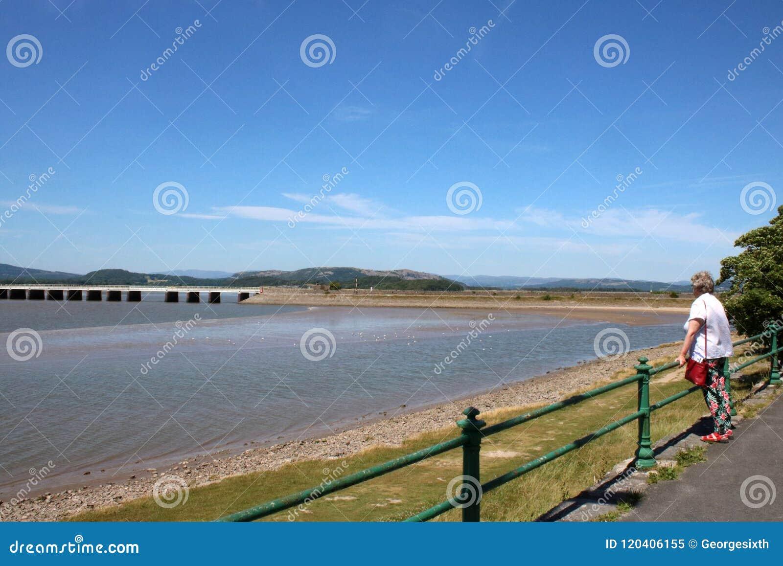 Arnside-Viadukt über Fluss Kent, Cumbria