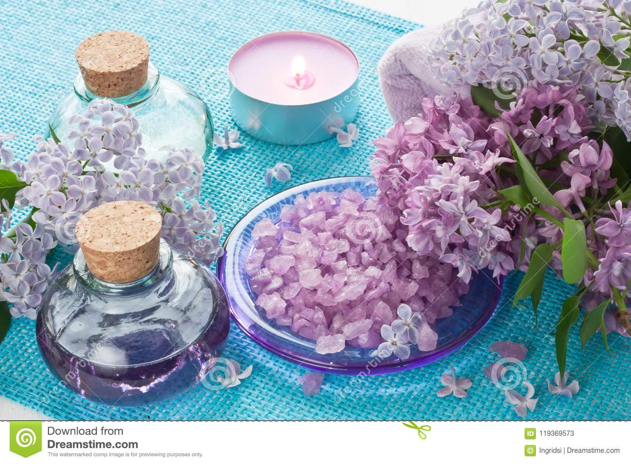 Aroma Spa Set For Aromatherapy Massage Ana Relax Stock Image Image Of Pampering Bottle 119369573