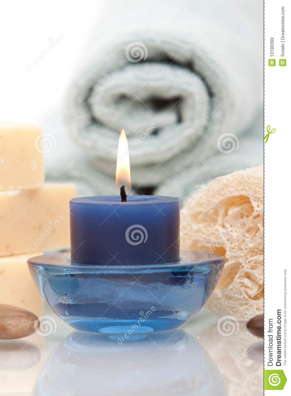 Aromatherapy candle objects spa