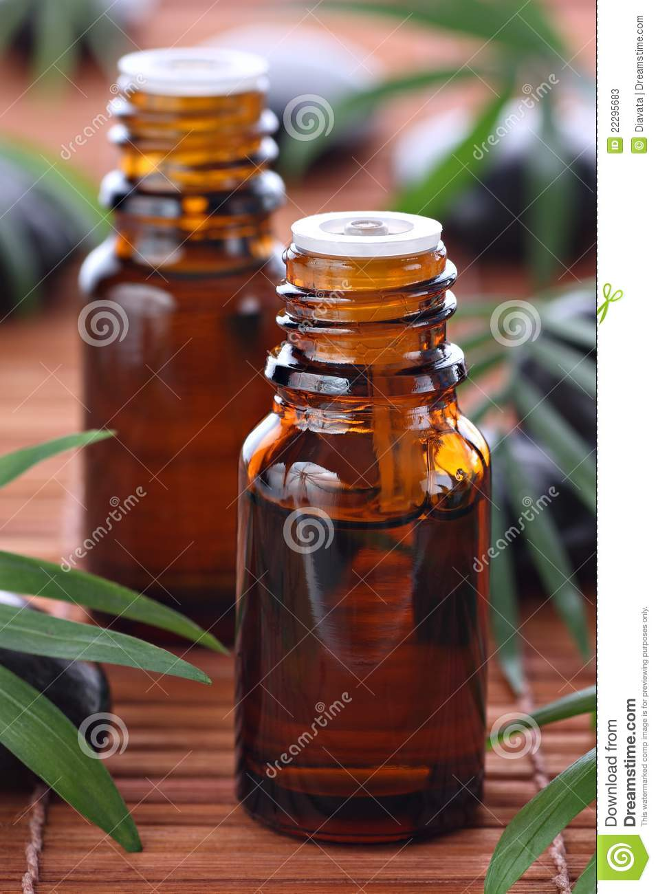 Aromatherapy, essential oil bottles