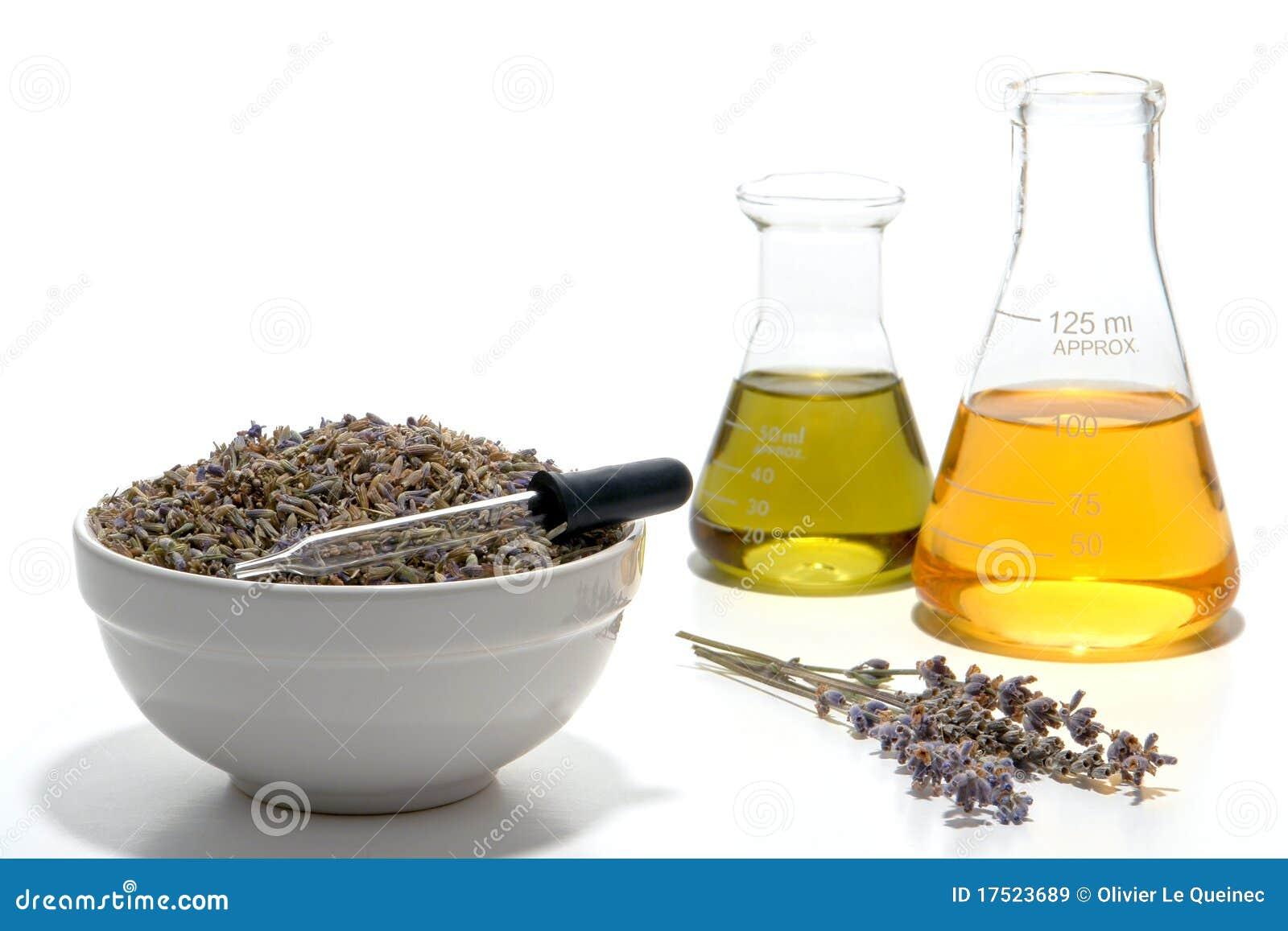 Aromatherapy istotny lawendowego oleju przygotowanie