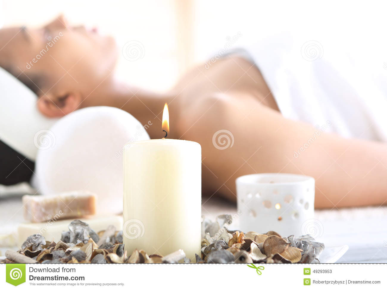 Aromatherapy, Relaxation In The Wellness Clinic Stock Image