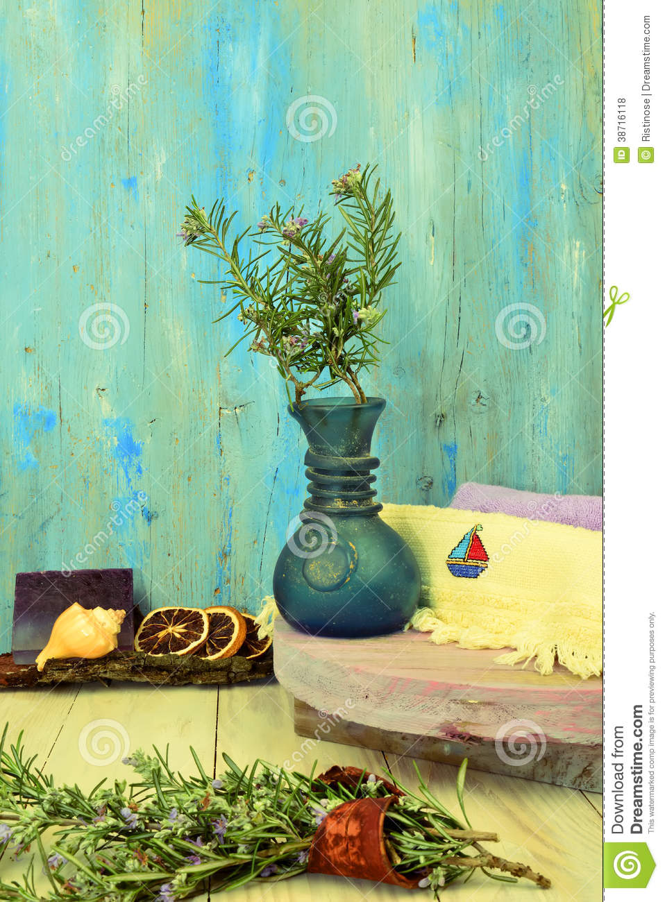 Aromatherapy Rustic Background Royalty Free Stock Photos