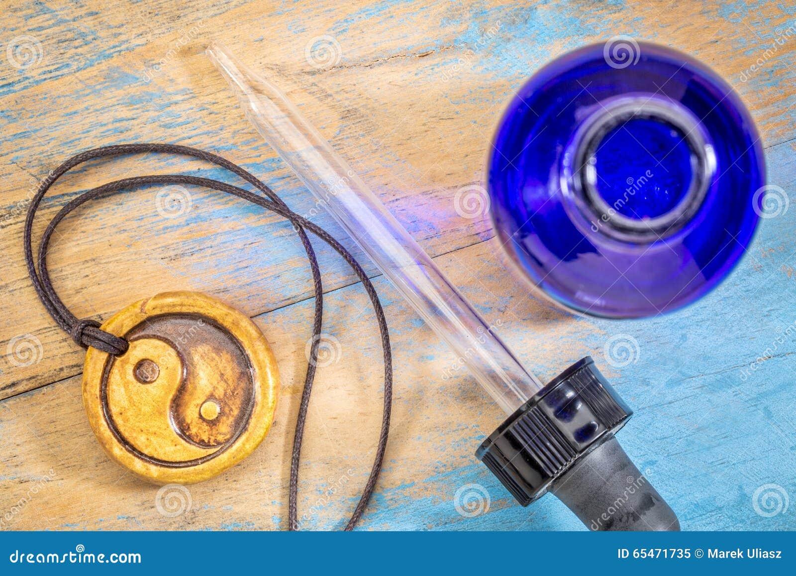Aromatherapyyin och yang halsband