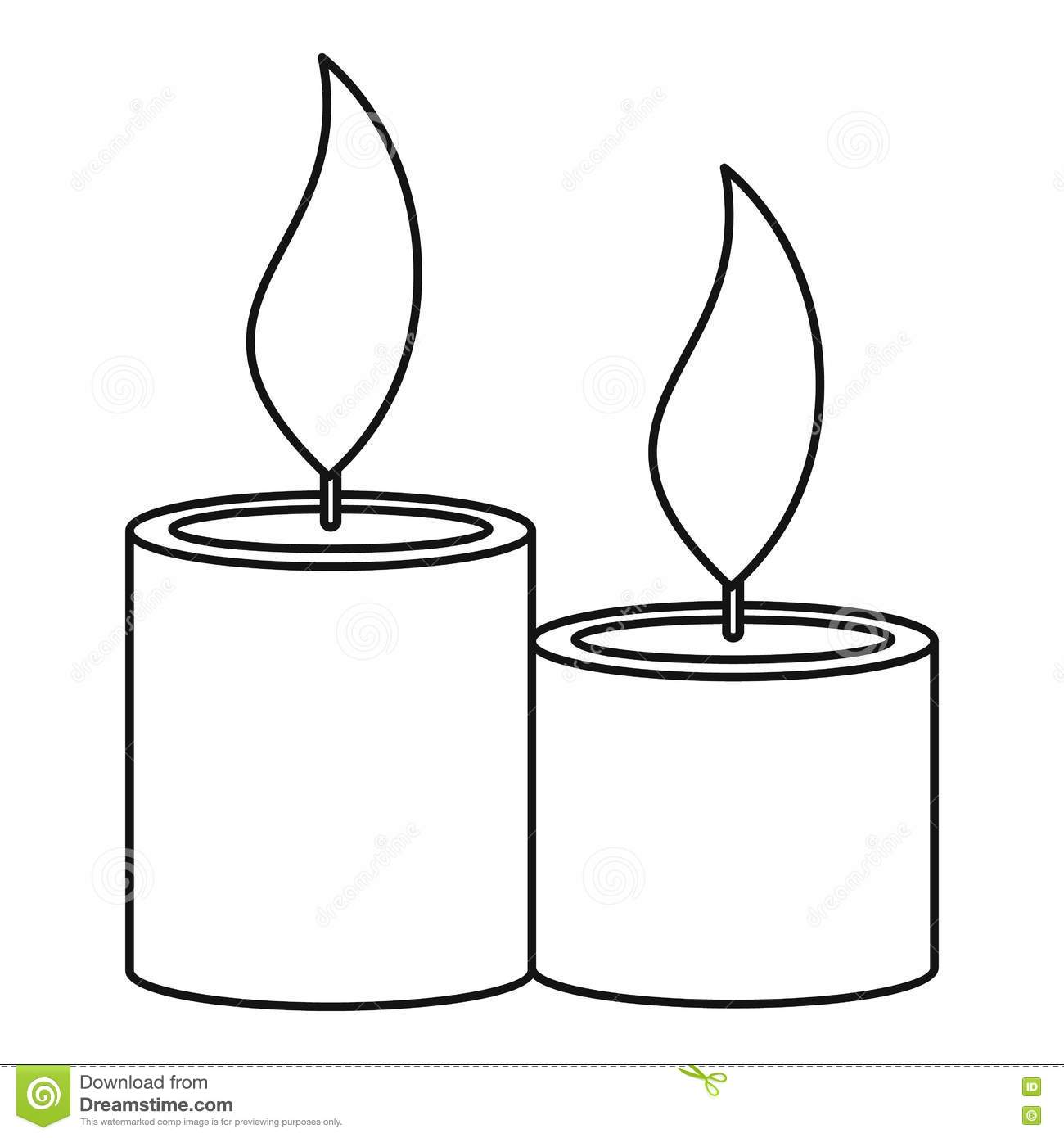Aromatic Candles Icon, Outline Style Stock Vector