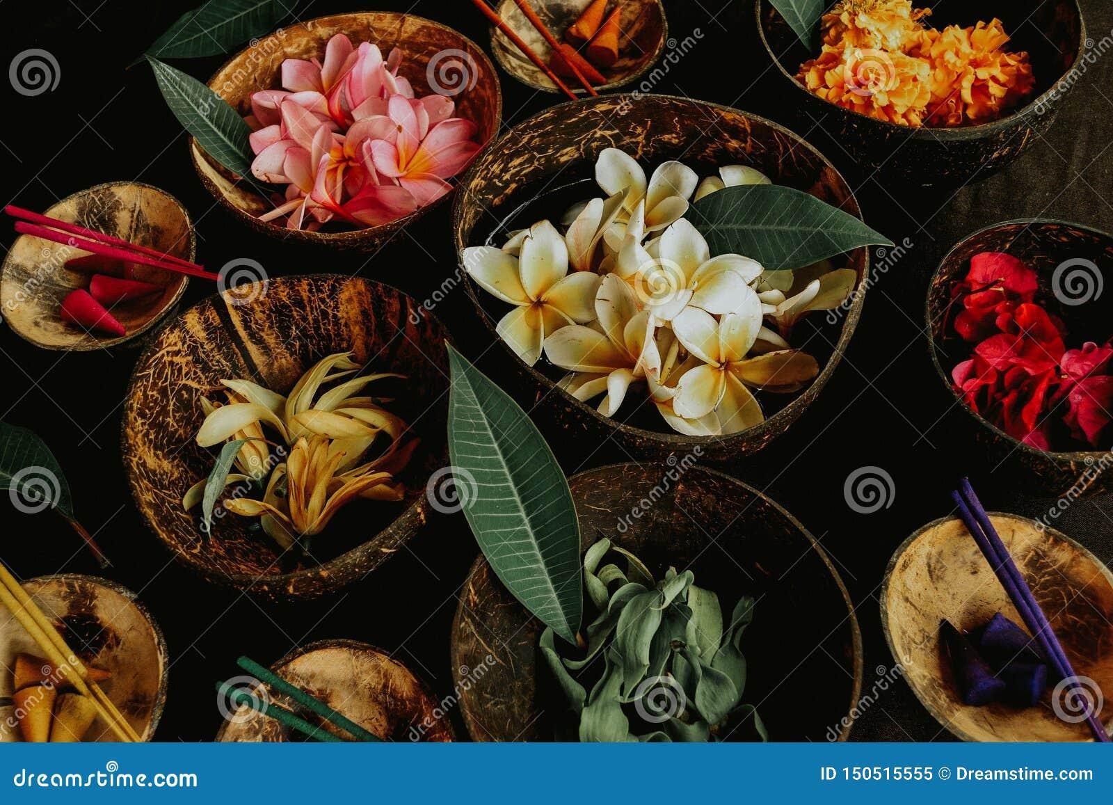Aromatic spa tropische bloemen