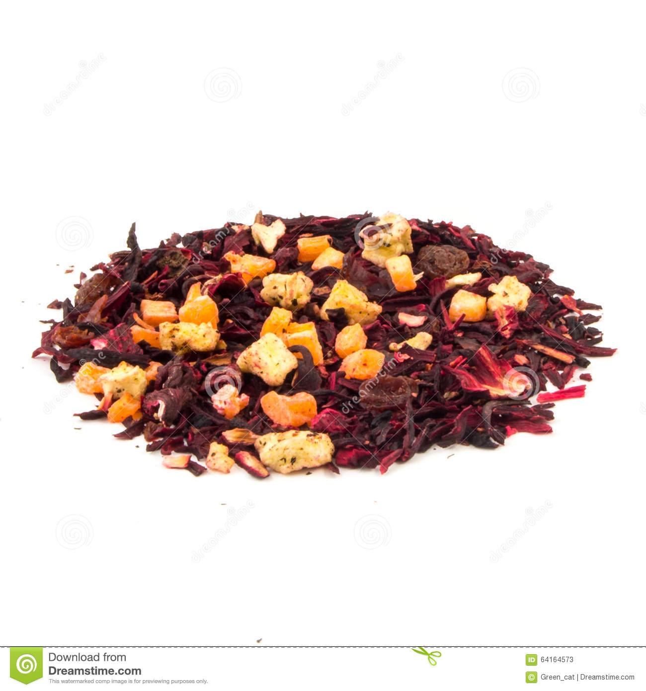 Aromatic Tea Hibiscus Flower Candied Fruit Mix Stock Image Image