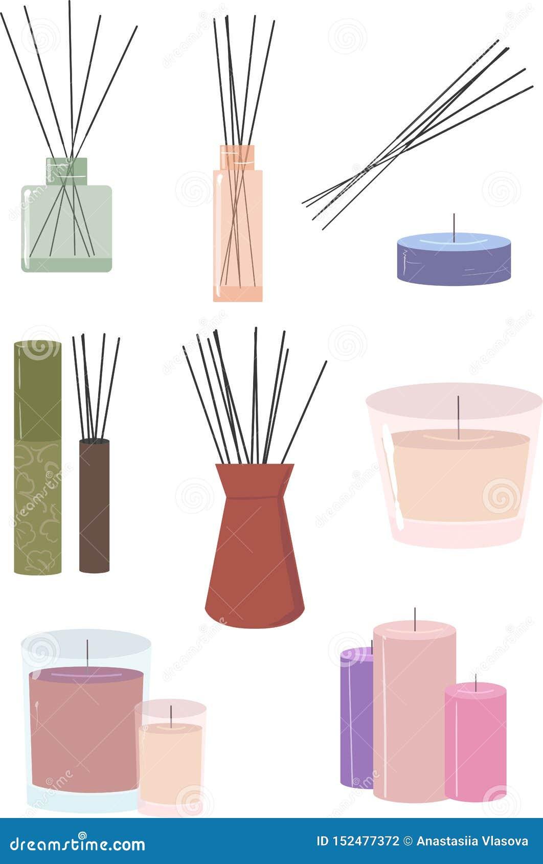 Aromstics och stearinljus