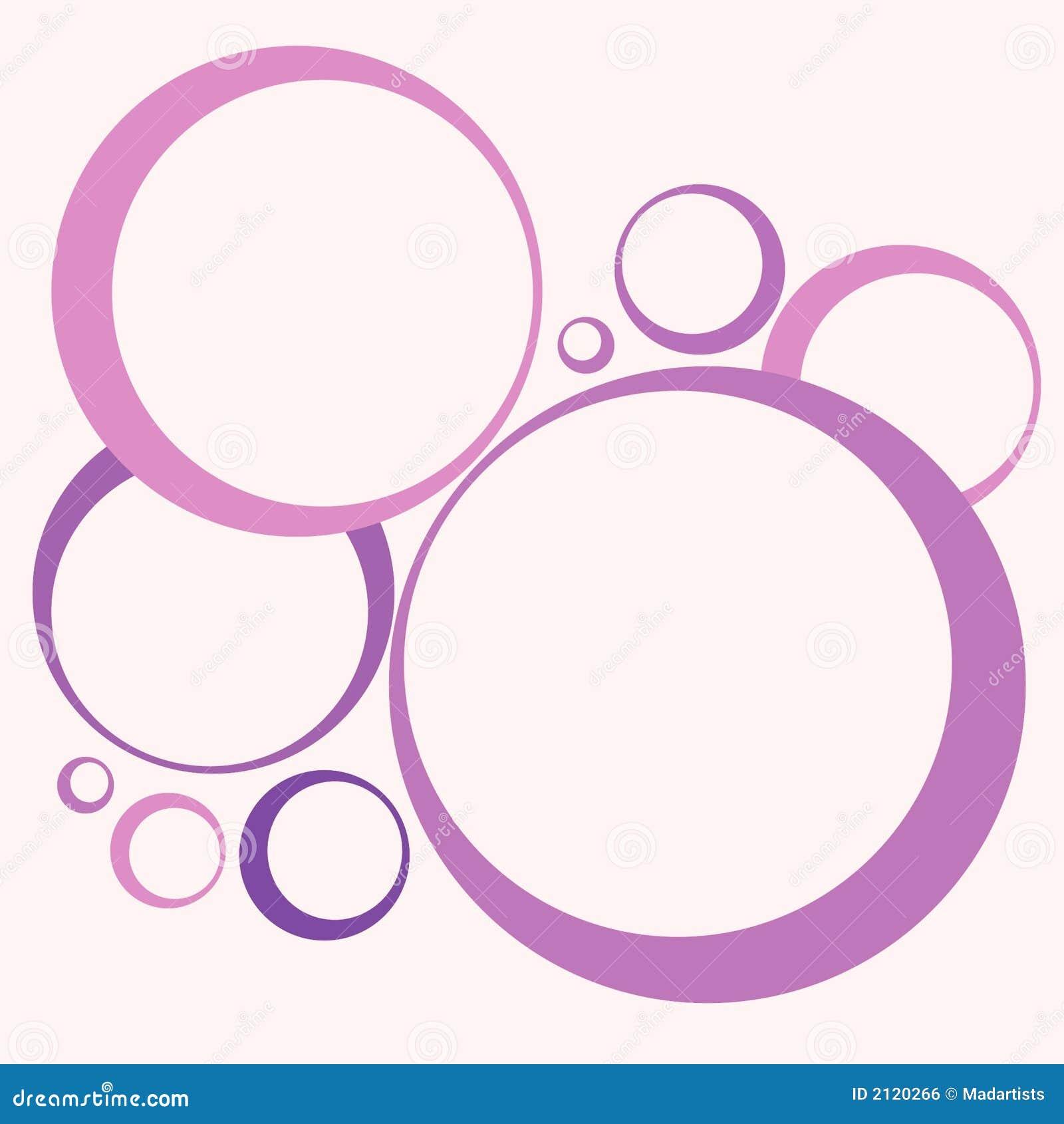Aros retros y color de rosa de los c rculos stock de for Aros de plastico para cortinas