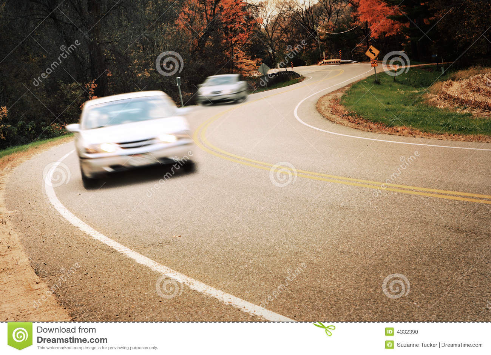 Turn around sign stock image image 35488961 - Around The Curve Motion Blur Stock Photo