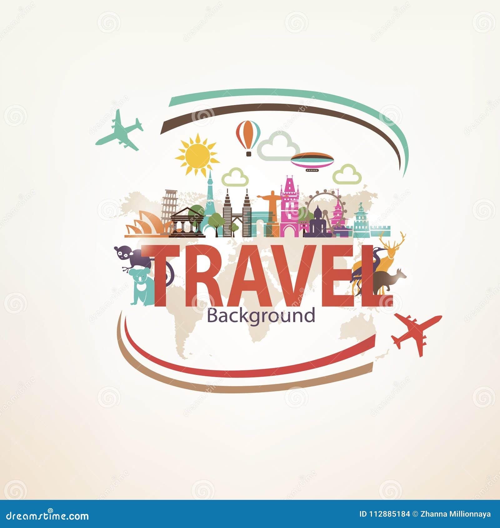 Around the world travel background