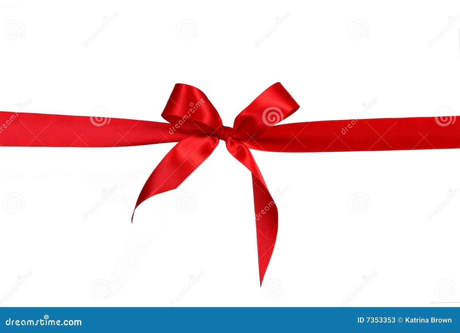Arqueamiento rojo de la cinta del regalo fotos de archivo - Cinta para regalo ...