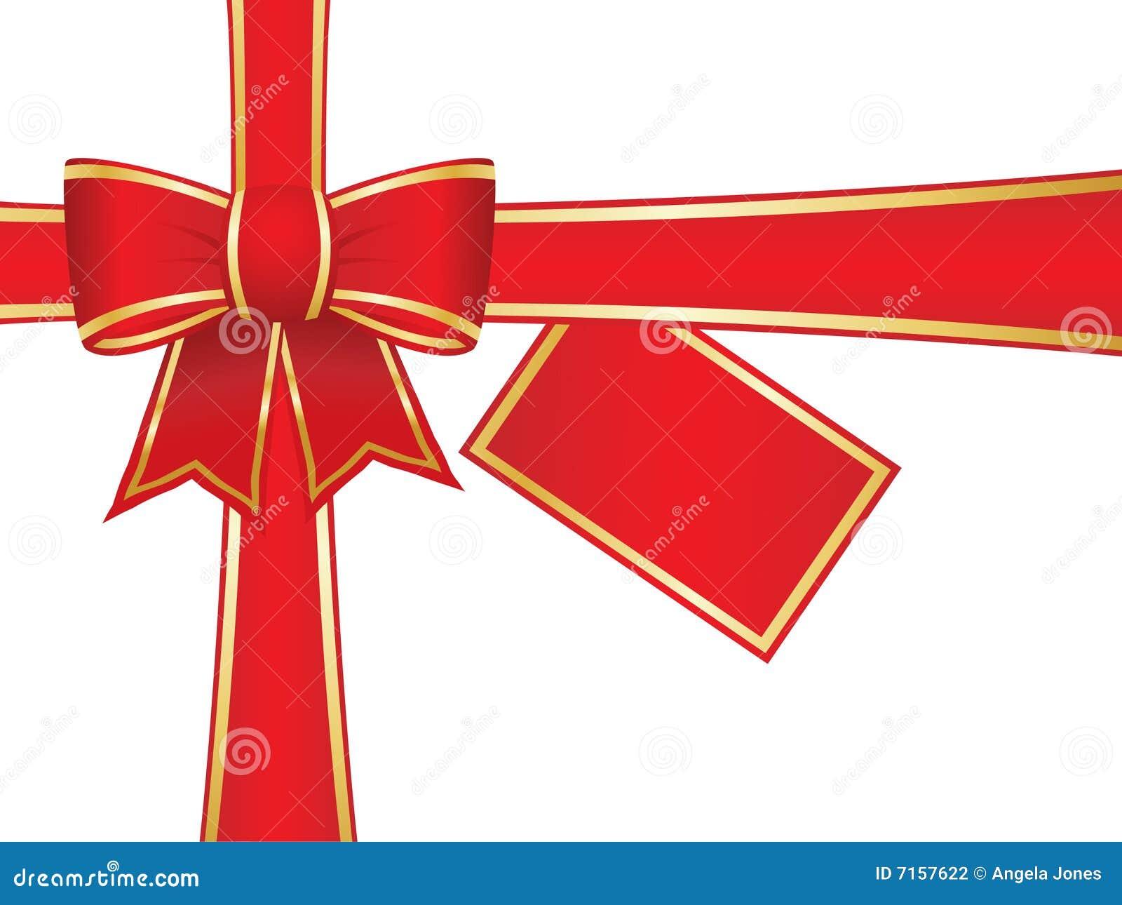 Arqueamiento y cintas de la navidad con la tarjeta en - Cintas navidad para arbol ...