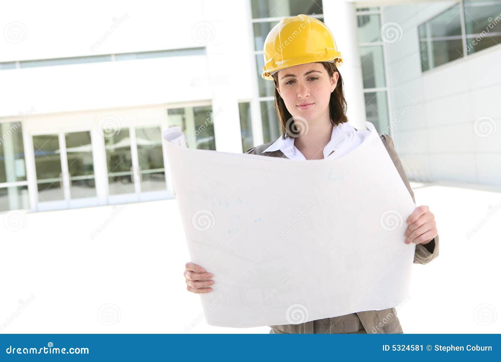 Arquitecto bonito de la mujer en el solar imagen de for Todo para el arquitecto
