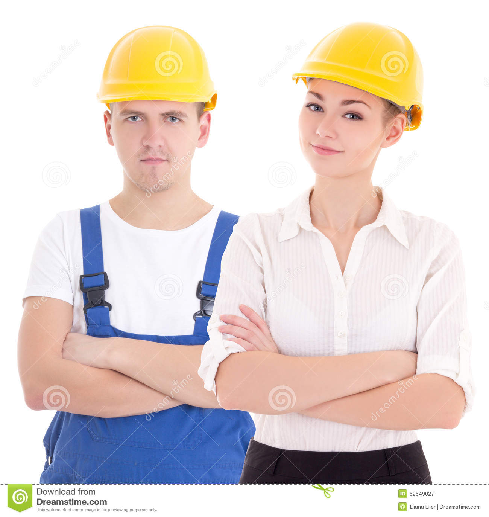 Arquitecto del constructor del hombre joven y de la mujer for Arquitecto constructor