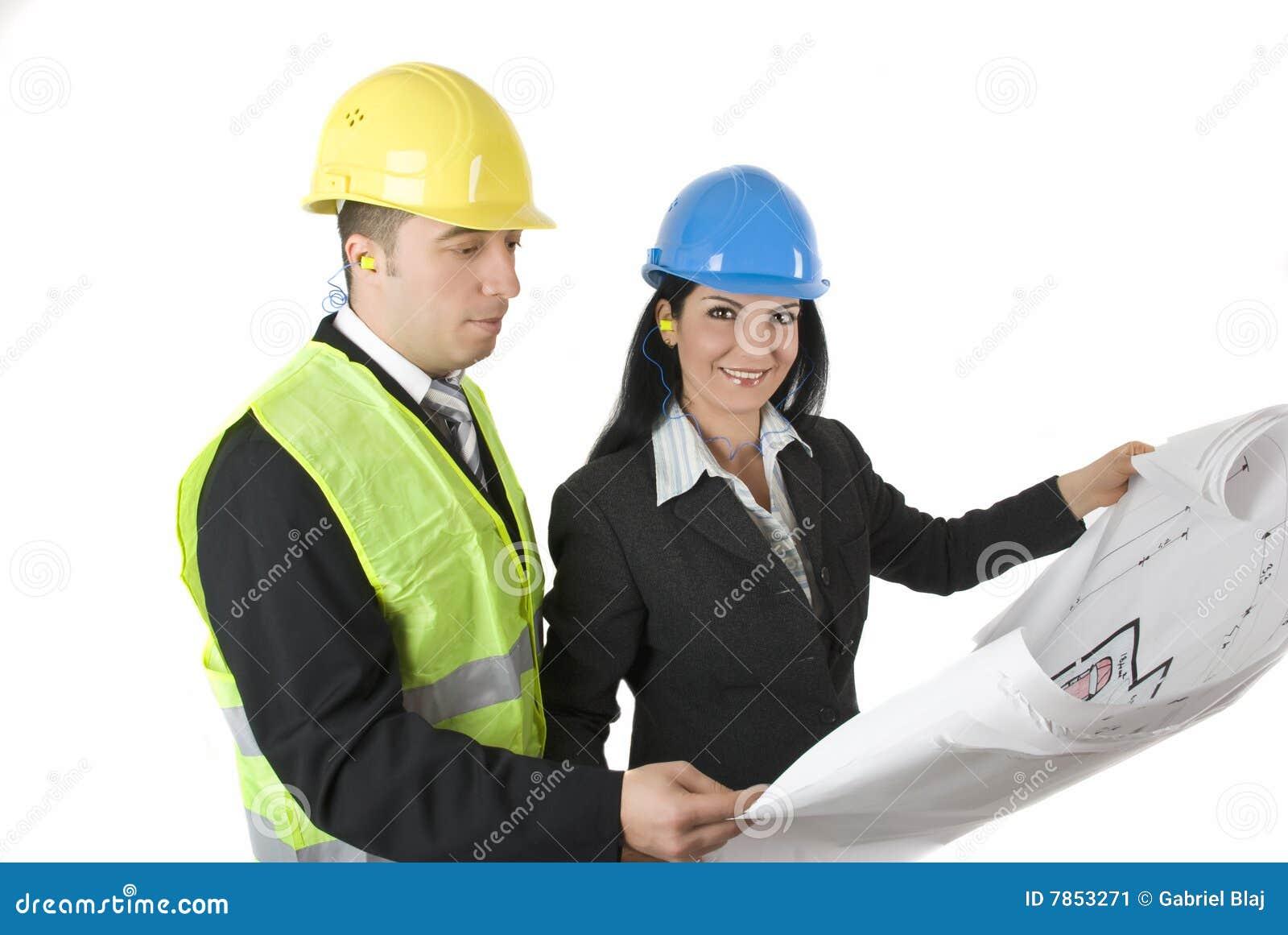 arquitecto e ingeniero imagen de archivo imagen de