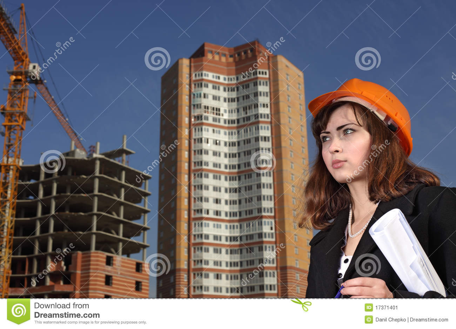 Arquitecto en área del edificio
