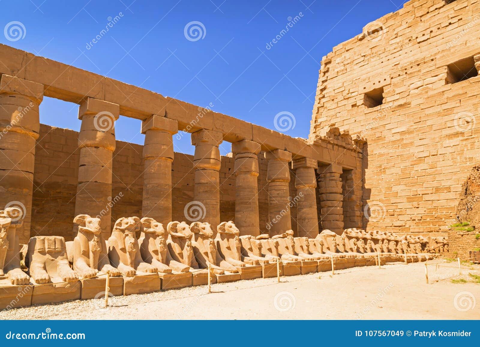 Arquitectura antigua del templo de karnak en egipto imagen for Arquitectura de egipto
