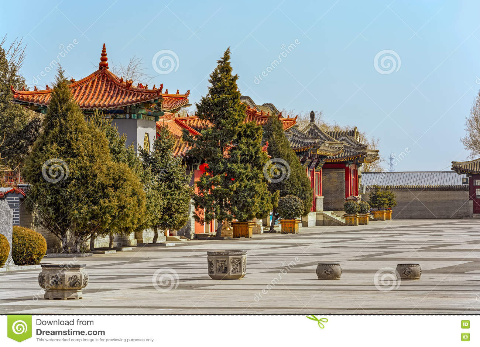 Arquitectura china antigua en la Gran Muralla de China