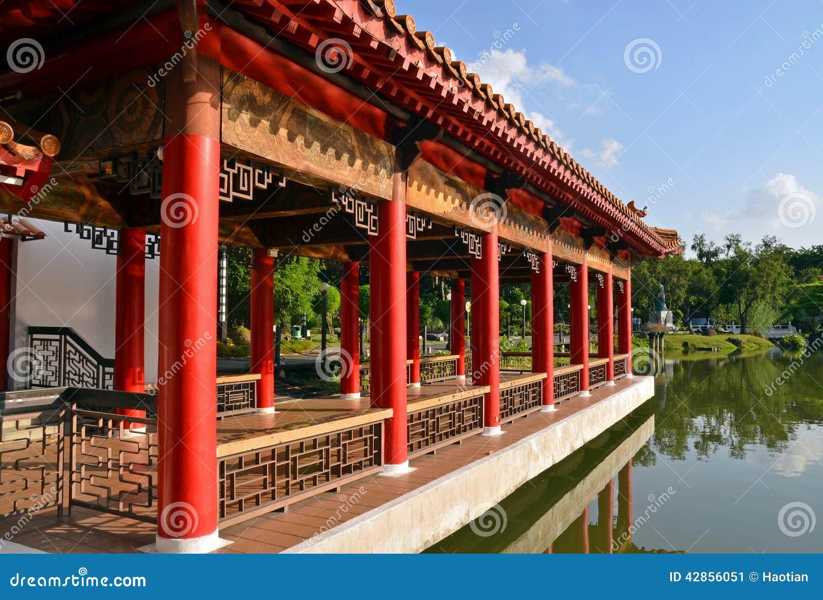Arquitectura china imperial del tema en los jardines del for Jardin imperial chino