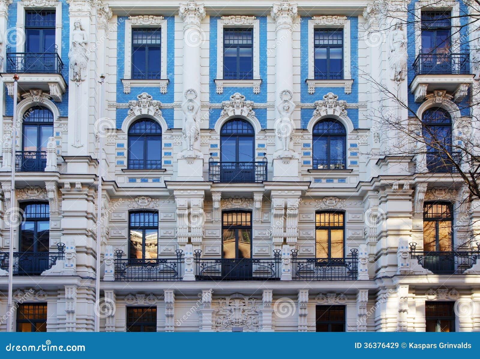 Arquitectura de art nouveau imagen de archivo imagen de Art nouveau arquitectura