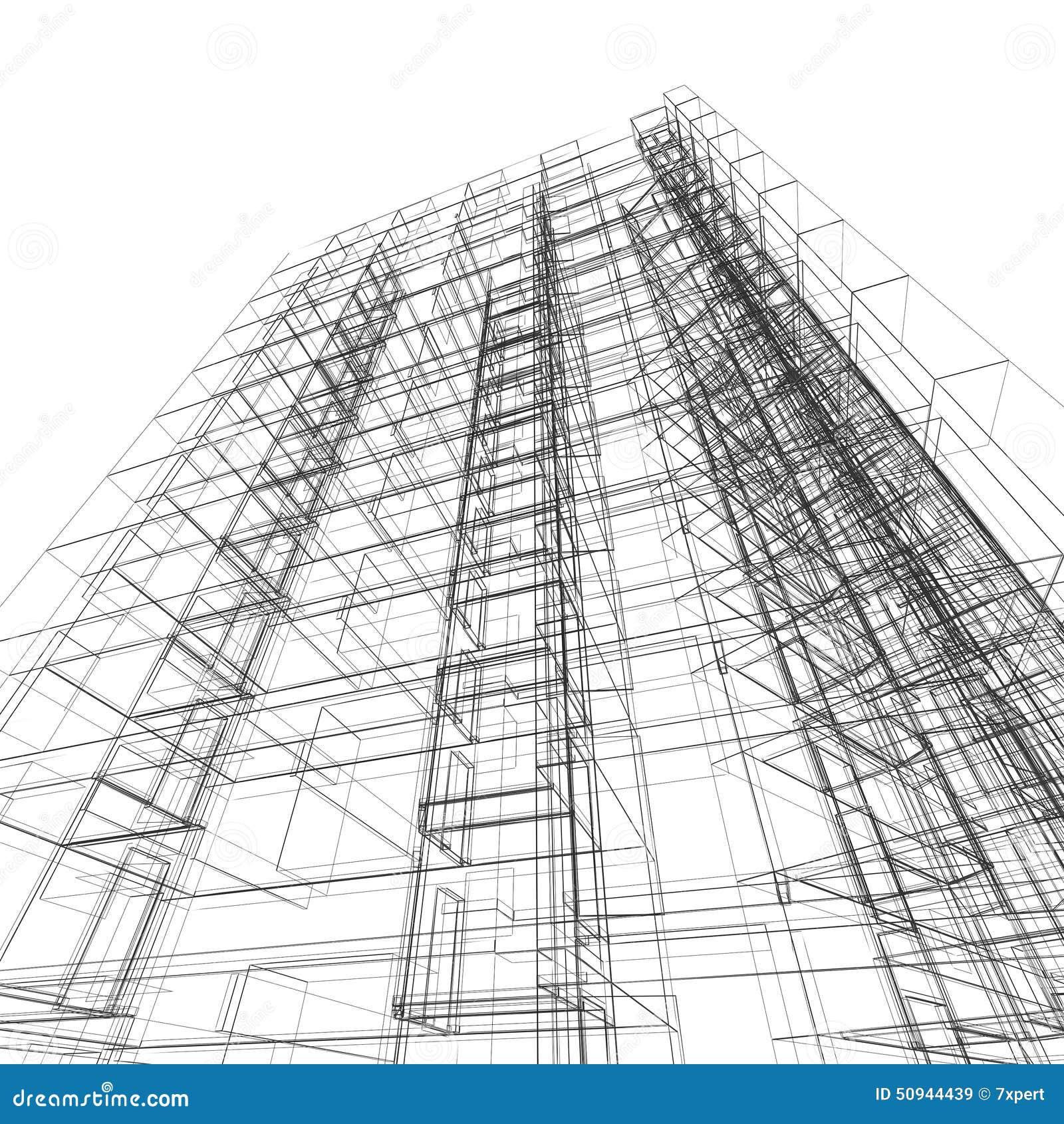 arquitectura de la construcci n stock de ilustraci n