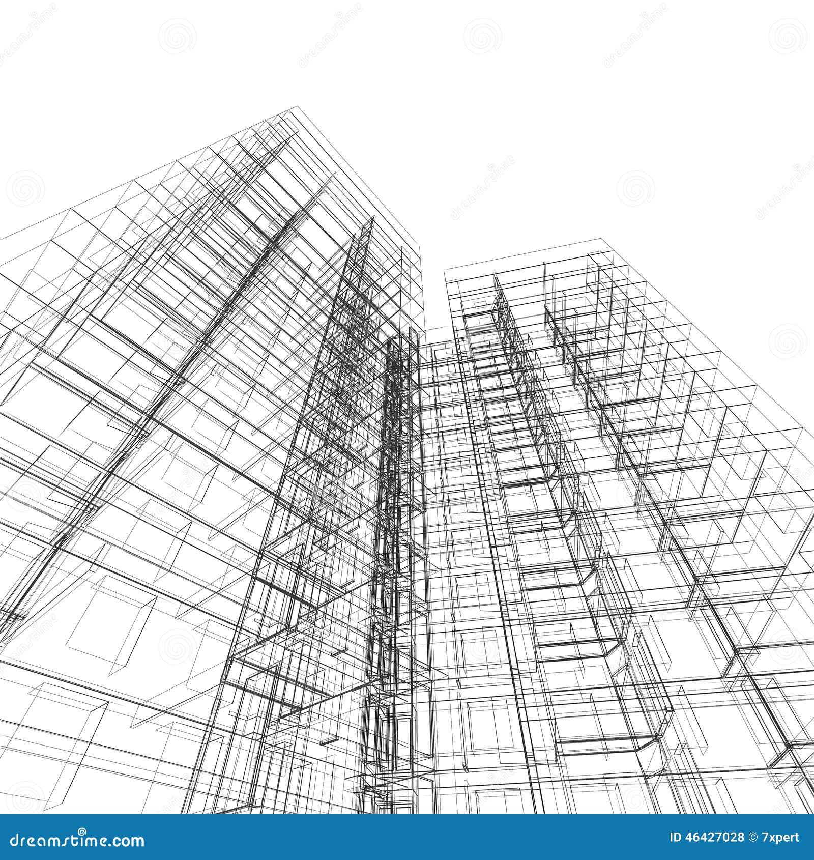 Arquitectura de la construcci n stock de ilustraci n for Paginas de construccion y arquitectura
