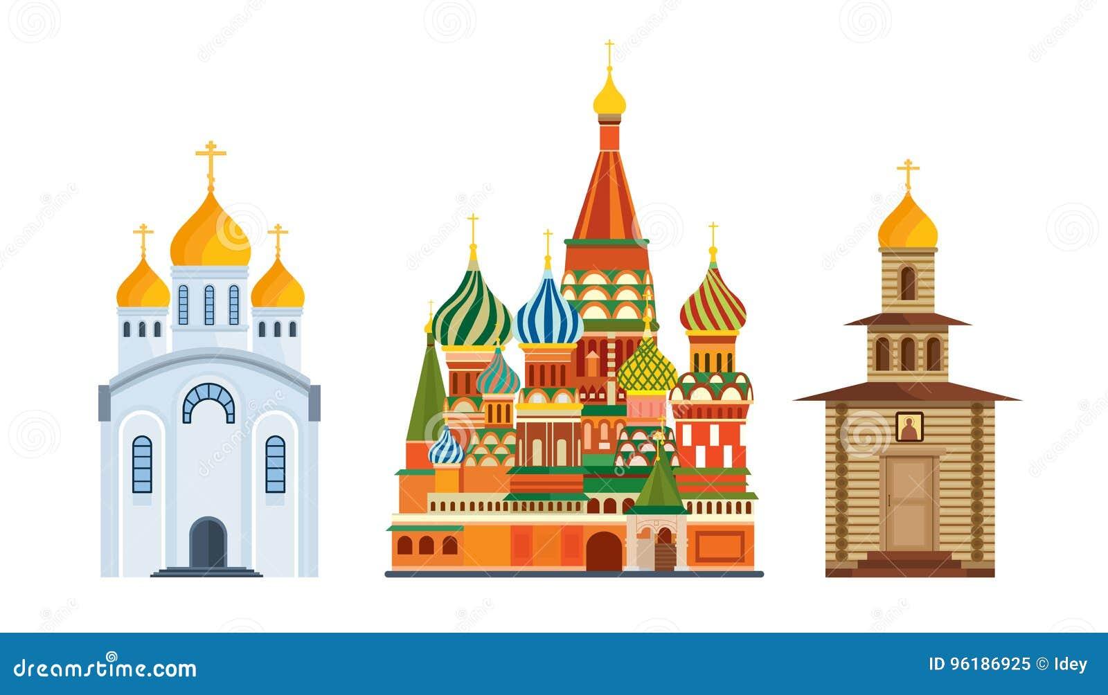 Arquitectura de los monumentos, iglesia ortodoxa famosa de St Basil Blessed, catedral