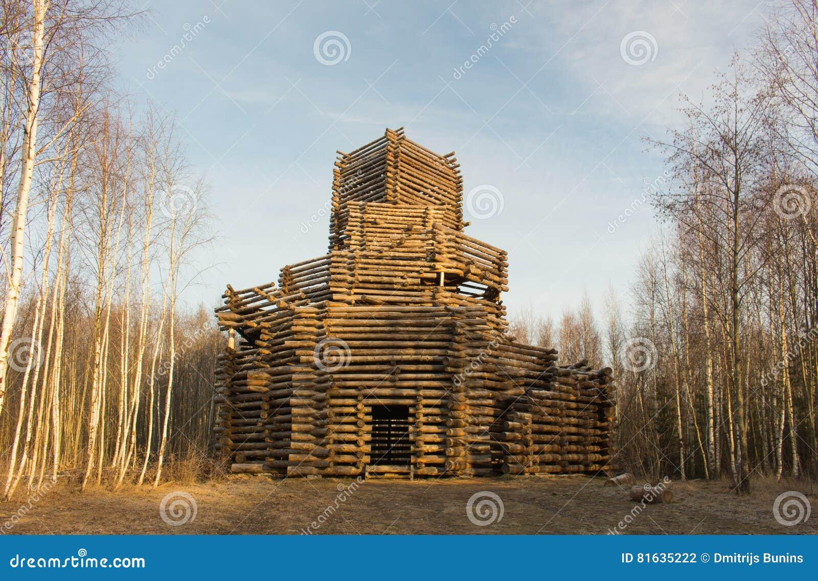 Arquitectura de madera rusa casa de campo en invierno foto for Arquitectura de madera