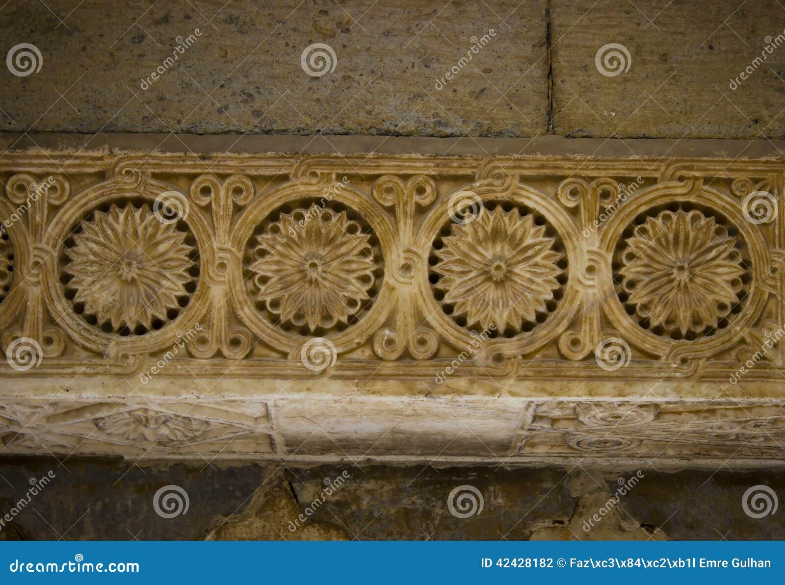Arquitectura de Seljuk que talla el detalle