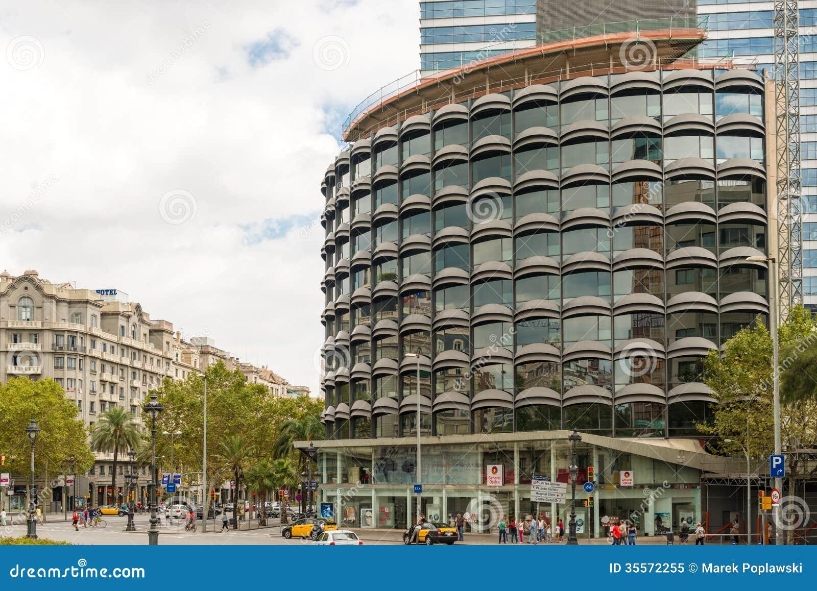 arquitectura moderna en barcelona espa a imagen editorial